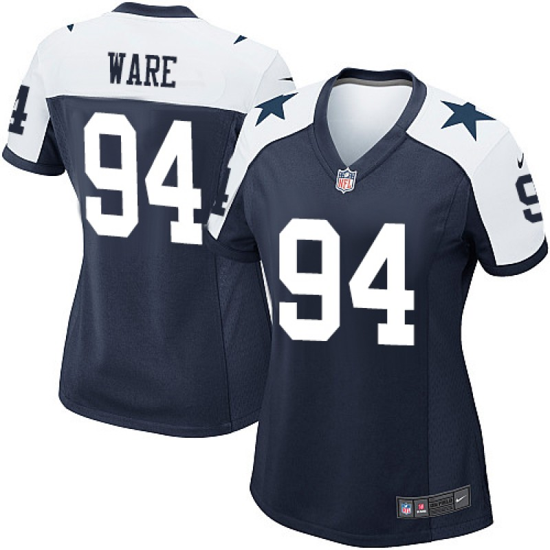 pretty nice 61d5a 9deb8 Women's Nike Dallas Cowboys DeMarcus Ware Navy Blue Throwback Alternate  Jersey - Game