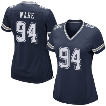 Women's Nike Dallas Cowboys DeMarcus Ware Navy Team Color Jersey - Game