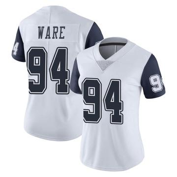 Women's Nike Dallas Cowboys DeMarcus Ware White Color Rush Vapor Untouchable Jersey - Limited
