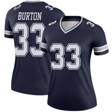 Women's Nike Dallas Cowboys Deante Burton Navy Jersey - Legend