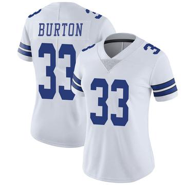 Women's Nike Dallas Cowboys Deante Burton White Vapor Untouchable Jersey - Limited