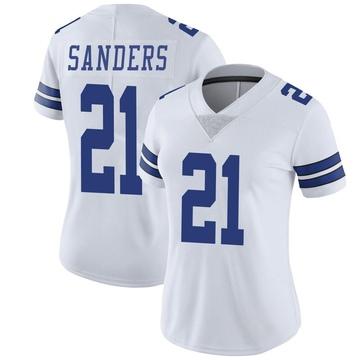 Women's Nike Dallas Cowboys Deion Sanders White Vapor Untouchable Jersey - Limited