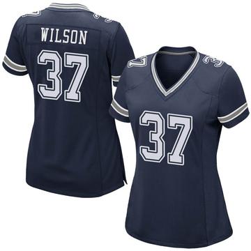 Women's Nike Dallas Cowboys Donovan Wilson Navy Team Color Jersey - Game