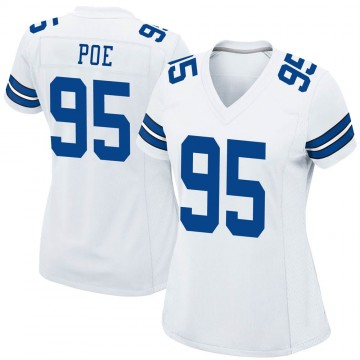 Women's Nike Dallas Cowboys Dontari Poe White Jersey - Game