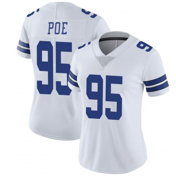 Women's Nike Dallas Cowboys Dontari Poe White Vapor Untouchable Jersey - Limited