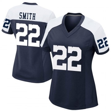 Women's Nike Dallas Cowboys Emmitt Smith Navy Alternate Jersey - Game