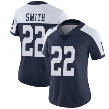 Women's Nike Dallas Cowboys Emmitt Smith Navy Alternate Vapor Untouchable Jersey - Limited