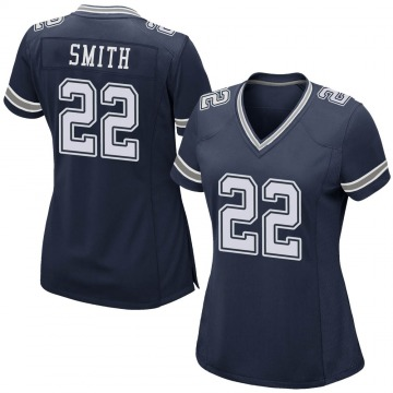Women's Nike Dallas Cowboys Emmitt Smith Navy Team Color Jersey - Game