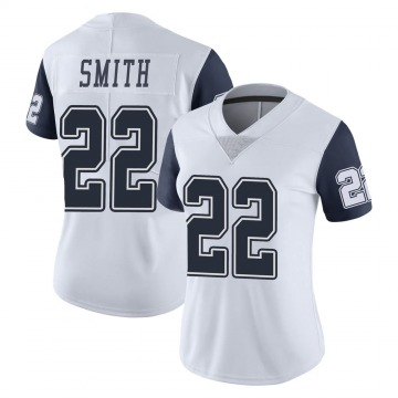 Women's Nike Dallas Cowboys Emmitt Smith White Color Rush Vapor Untouchable Jersey - Limited