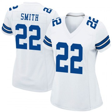 Women's Nike Dallas Cowboys Emmitt Smith White Jersey - Game