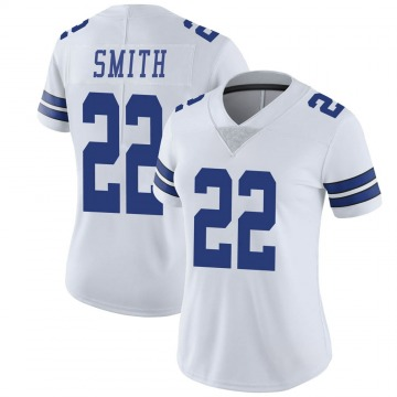 Women's Nike Dallas Cowboys Emmitt Smith White Vapor Untouchable Jersey - Limited