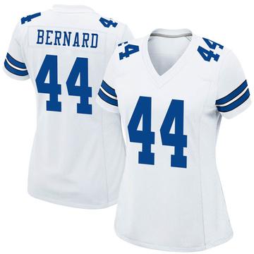 Women's Nike Dallas Cowboys Francis Bernard White Jersey - Game