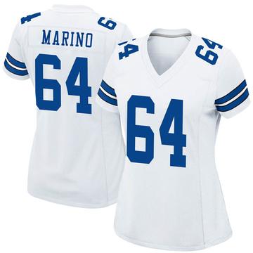 Women's Nike Dallas Cowboys Garrett Marino White Jersey - Game
