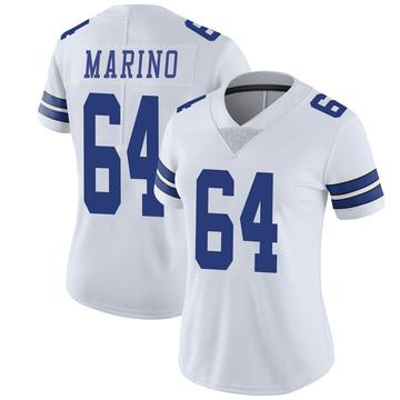 Women's Nike Dallas Cowboys Garrett Marino White Vapor Untouchable Jersey - Limited