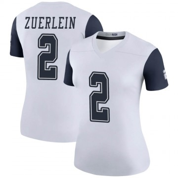 Women's Nike Dallas Cowboys Greg Zuerlein White Color Rush Jersey - Legend