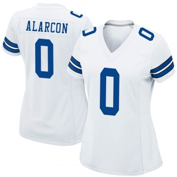 Women's Nike Dallas Cowboys Isaac Alarcon White Jersey - Game