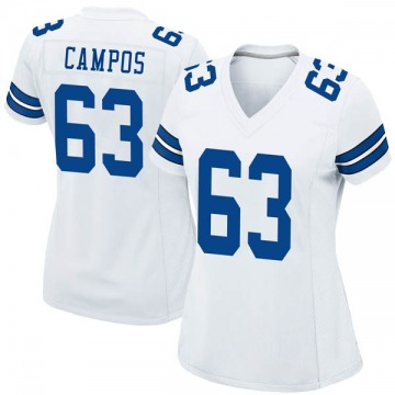 Women's Nike Dallas Cowboys Jake Campos White Jersey - Game