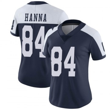 Women's Nike Dallas Cowboys James Hanna Navy Alternate Vapor Untouchable Jersey - Limited