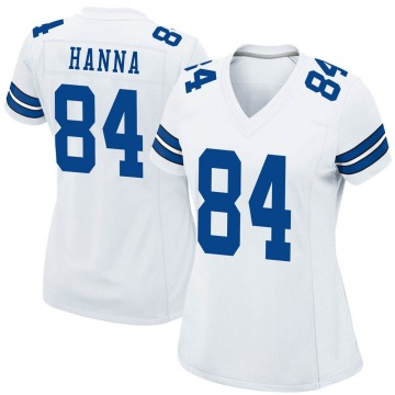 Women's Nike Dallas Cowboys James Hanna White Jersey - Game