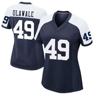 Women's Nike Dallas Cowboys Jamize Olawale Navy Alternate Jersey - Game