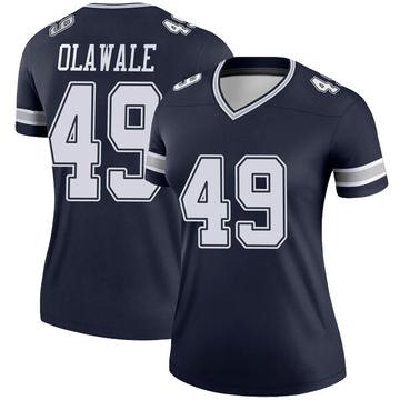 Women's Nike Dallas Cowboys Jamize Olawale Navy Jersey - Legend