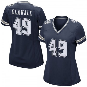 Women's Nike Dallas Cowboys Jamize Olawale Navy Team Color Jersey - Game