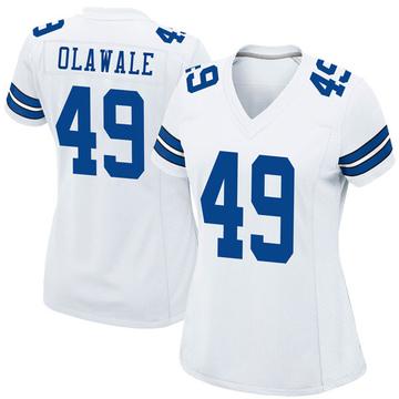 Women's Nike Dallas Cowboys Jamize Olawale White Jersey - Game