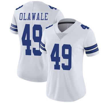 Women's Nike Dallas Cowboys Jamize Olawale White Vapor Untouchable Jersey - Limited