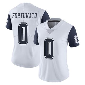 Women's Nike Dallas Cowboys Joe Fortunato White Color Rush Vapor Untouchable Jersey - Limited