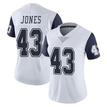 Women's Nike Dallas Cowboys Joe Jones White Color Rush Vapor Untouchable Jersey - Limited