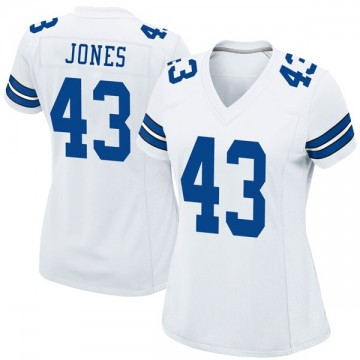 Women's Nike Dallas Cowboys Joe Jones White Jersey - Game
