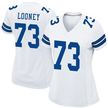 Women's Nike Dallas Cowboys Joe Looney White Jersey - Game