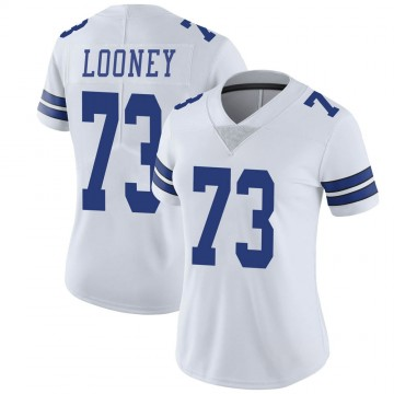 Women's Nike Dallas Cowboys Joe Looney White Vapor Untouchable Jersey - Limited