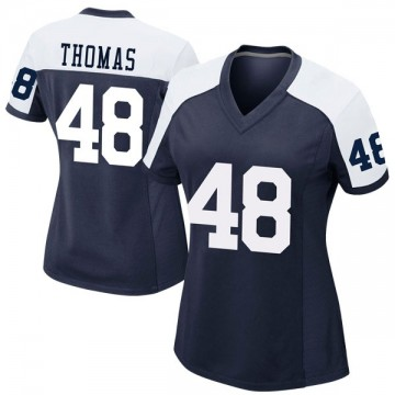 Women's Nike Dallas Cowboys Joe Thomas Navy Alternate Jersey - Game