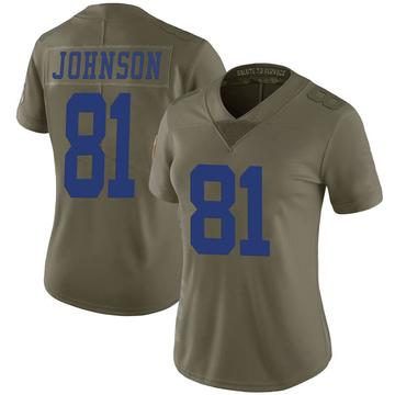 Women's Nike Dallas Cowboys Jon'Vea Johnson Green 2017 Salute to Service Jersey - Limited