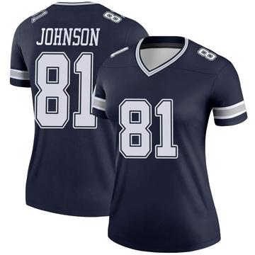 Women's Nike Dallas Cowboys Jon'Vea Johnson Navy Jersey - Legend