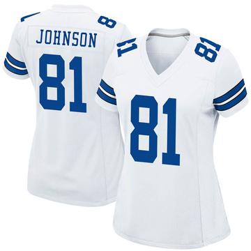 Women's Nike Dallas Cowboys Jon'Vea Johnson White Jersey - Game