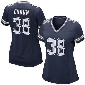Women's Nike Dallas Cowboys Jordan Chunn Navy Team Color Jersey - Game