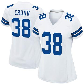 Women's Nike Dallas Cowboys Jordan Chunn White Jersey - Game