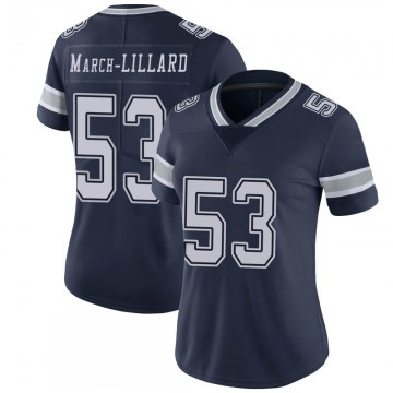 Women's Nike Dallas Cowboys Justin March-Lillard Navy 100th Vapor Jersey - Limited