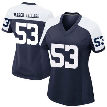 Women's Nike Dallas Cowboys Justin March-Lillard Navy Alternate Jersey - Game