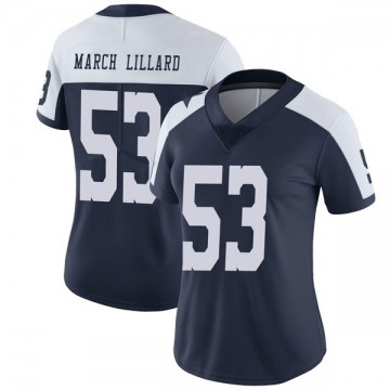 Women's Nike Dallas Cowboys Justin March-Lillard Navy Alternate Vapor Untouchable Jersey - Limited