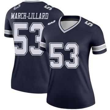 Women's Nike Dallas Cowboys Justin March-Lillard Navy Jersey - Legend