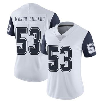 Women's Nike Dallas Cowboys Justin March-Lillard White Color Rush Vapor Untouchable Jersey - Limited