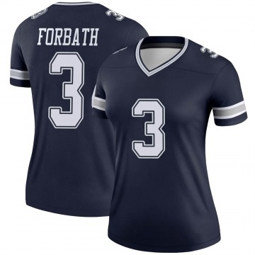 Women's Nike Dallas Cowboys Kai Forbath Navy Jersey - Legend