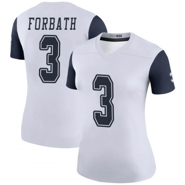 Women's Nike Dallas Cowboys Kai Forbath White Color Rush Jersey - Legend