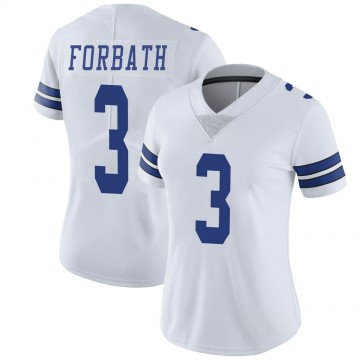 Women's Nike Dallas Cowboys Kai Forbath White Vapor Untouchable Jersey - Limited