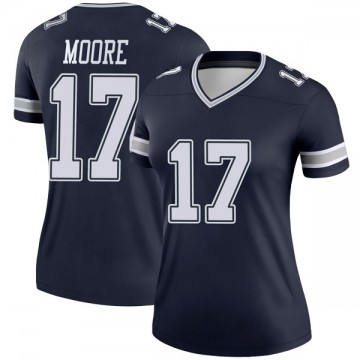 Women's Nike Dallas Cowboys Kellen Moore Navy Jersey - Legend