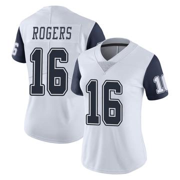 Women's Nike Dallas Cowboys Kendrick Rogers White Color Rush Vapor Untouchable Jersey - Limited