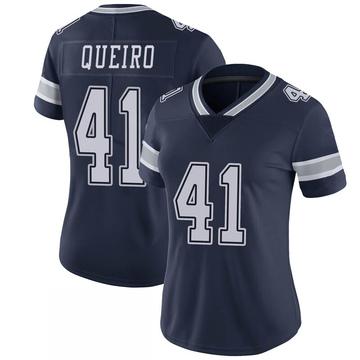 Women's Nike Dallas Cowboys Kyle Queiro Navy 100th Vapor Jersey - Limited
